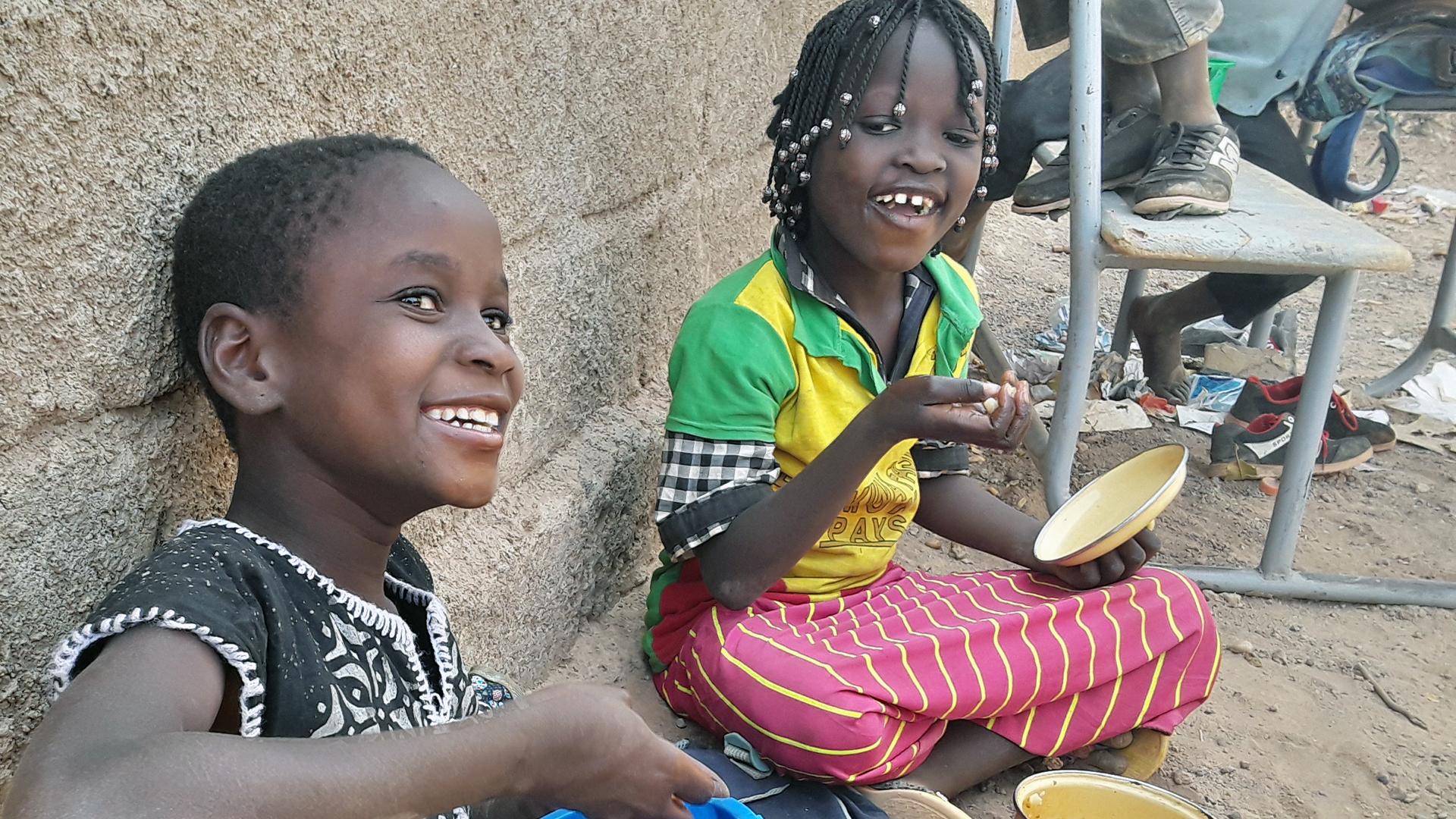 Primary-school students in Burkina Faso